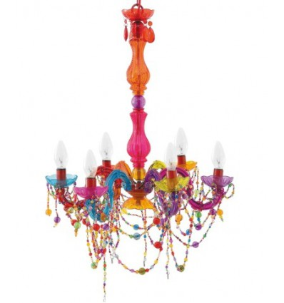 PRESENT TIME Lampadario Gipsy Coloured