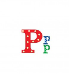 PUSHER CIRCUS LETTERS P