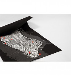 PALOMAR PIN CITY NEW YORK MAPPA FELTRO