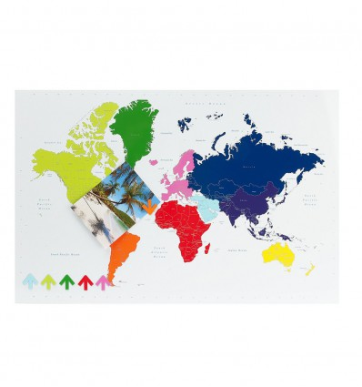 PT LAVAGNETTA WORLD MAP MAGNETICA