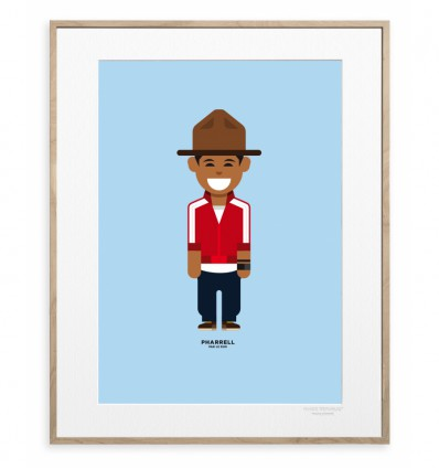 IMAGE REPUBLIC POSTER 30X40 PHARELL WILLIAMS