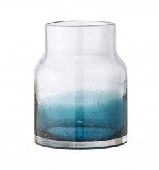 BLOOMINGVILLE VASO IN VETRO BLU