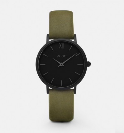 CLUSE MINUIT FULL BLACK/OLIVE GREEN