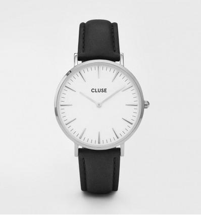CLUSE LA BOHÈME SILVER WHITE/BLACK