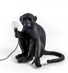 Seletti Monkey Lamp Black Seduta