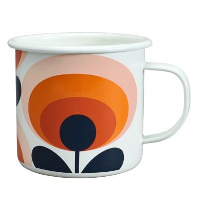 ORLA KIELY Enamel Mug 70s Flower 500ml