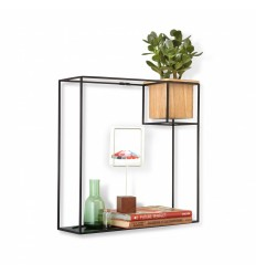 UMBRA CUBIST WALL SHELF BLACK