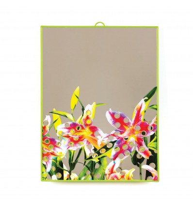 SELETTI TOILET PAPER MIRROR BIG FLOWERS WITH HOLES € 35,00
