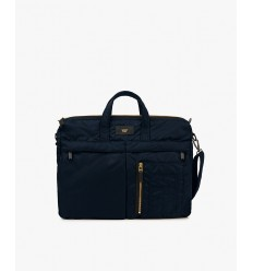 WOUF NAVY BOMBER MESSENGER BAG