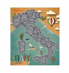 PIU' FORTY SCRATCH OFF MAP ITALY