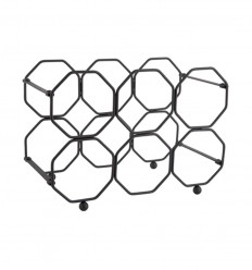 PRESENT TIME WINE RACK HONEYCOMB