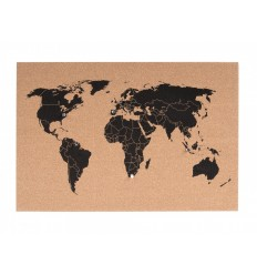 PRESENT TIME CORKBOARD WORLD MAP