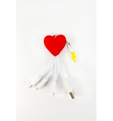 MOJIPOWER CAVO DI RICARICA MULTIPLO HEART