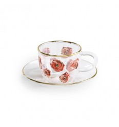 SELETTI SET CAFFE' IN VETRO ROSES BY TOILET PAPER