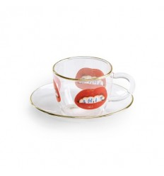 SELETTI SET CAFFE' IN VETRO SHIT BY TOILET PAPER